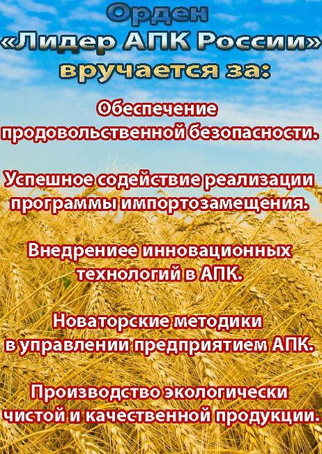 Лидер Агропромышленного комплекса России