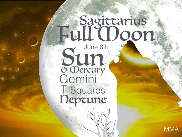 Full Moon Sagittarius June 8th