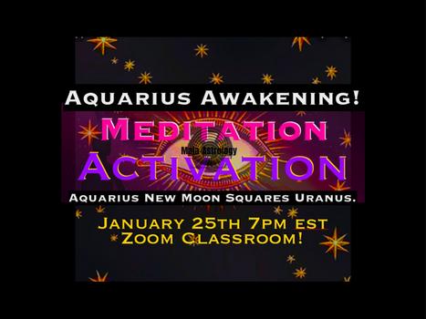 JANUARY's 5D Meditation-Activation 'Aquarius Awakening' on 01.25.20