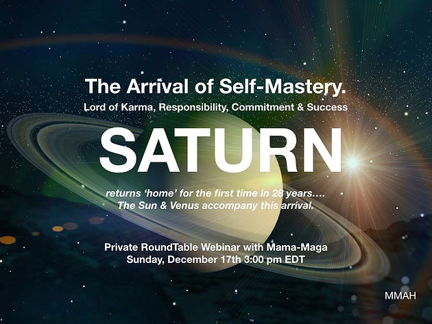 """LIVE WEBINAR """"SATURN Ingresses the Sign of CAPRICORN with"""