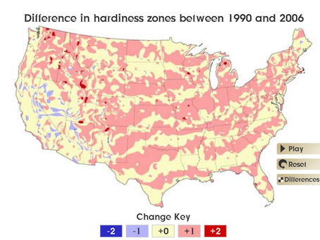 USDA Zone Changes - 1990 to Today