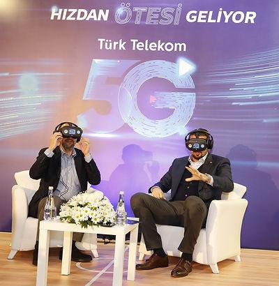 Türk Telekom Türkiye'nin ilk gerçek 5G canlı maç yayınını VR ile gerçekleştirdi