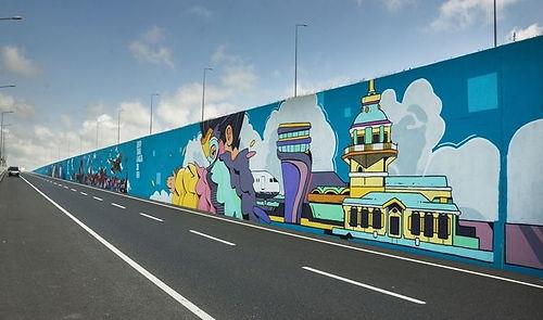 Filli Boya desteğiyle Türkiye'nin en büyük grafiti çalışması İstanbul Havalimanı'nda yapıldı