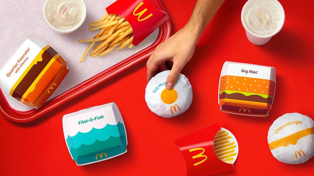 Pearlfisher, McDonald's'ın ürünlerinin ambalajlarını yeniden tasarladı