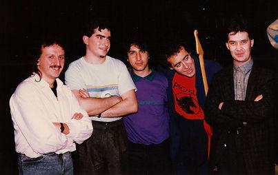 Con Max Suñé, Salvador Niebla, Pachi Pazos y Marcial Prado.