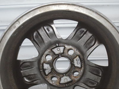 Buckled alloy wheel after Pro Alloys straightening.