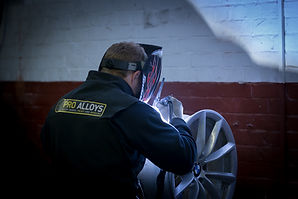 BMW cracked wheel welding