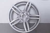 BMW alloy wheel refurbishment ready for powder coat.