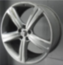 Alloy wheel with kerb damage that can be repaired here at Pro Alloys