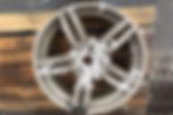 BMW alloy wheel acid stripped