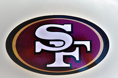 "San Francisco 49ers 10"" x 06""  100% Handmade Wood Wall Decor"