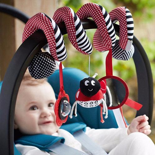 Polka-Spiral Bed & Stroller Toy Set