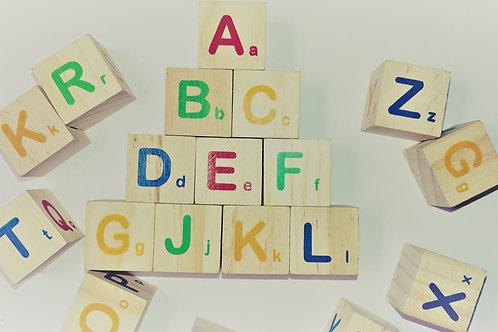 10 pcs Alphabet Blocks
