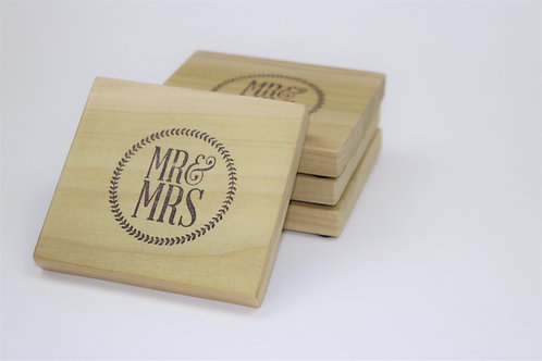 MR & MRS Coasters- Set of 4