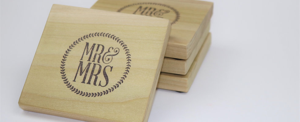 MR & MRS Coasters- Set of 4