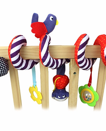 Cute Birdy Spiral Bed & Stroller Toy Set