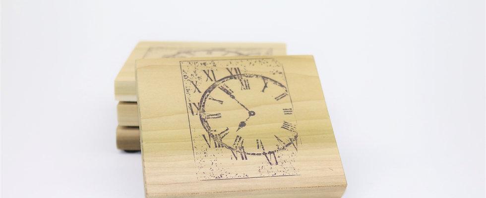 Vintage Clock Coasters - Set of 4