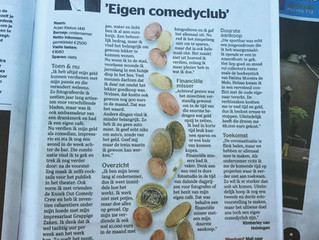 Arjan Kleton over doekoe in De Telegraaf over