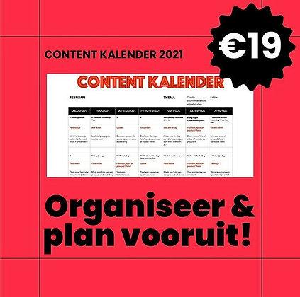 Sociale Zaken content kalender 2021