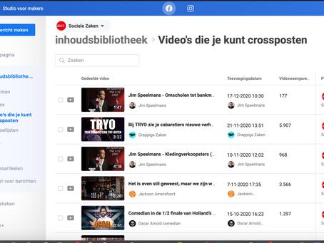 16x zoveel bereik door crossposten van video's op Facebook
