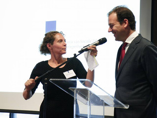 Esther van der Voort dagvoorzitter ministerie van SZW.