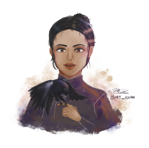 Fanart of Inej from Six of Crows!