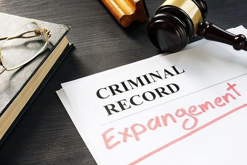 criminal record expangement paperwork at Vasilic Law Firm