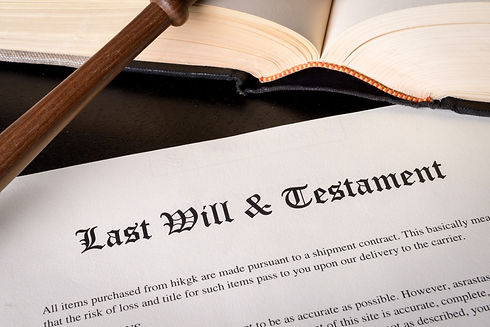 last will & testaments book at Vasilic Law Firm