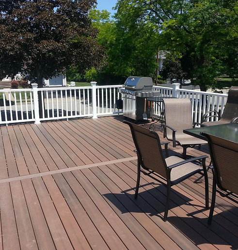 Outdoor deck built by Single Solution Construction