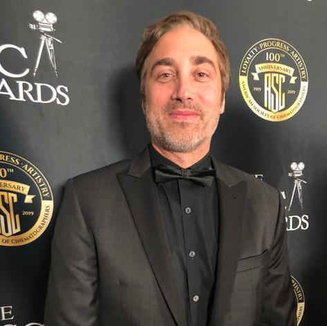Cinematographer's Award backstage.