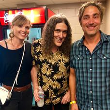 Wierd Al backstage at The Pixies/Weezer show.