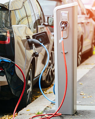 Many electric car are charged by chargin