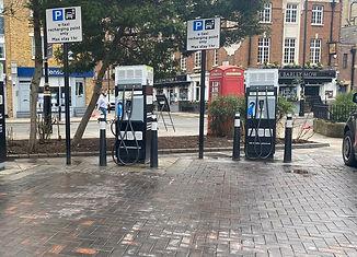 car charging point installation ground w