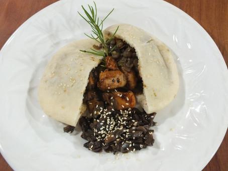 Sándwich  de Pollo Thai en Biopan Pita Sésamo del Castillo