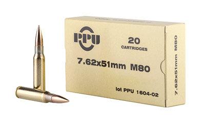 PPU 7.62X51 M80 20rd Ball ammo