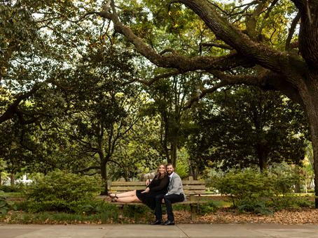 Jen & Matt - Engagement Session - Forsyth Park