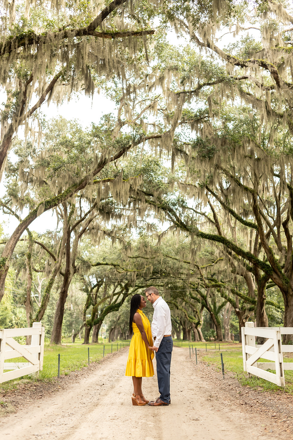 Christabel & Mike's Engagement Session at Wormsloe and Jones Street in Savannah, Georgia.