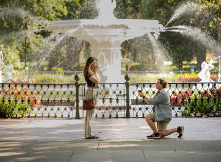 Hannah & Connor - Forsyth Park Proposal - Savannah, Georgia