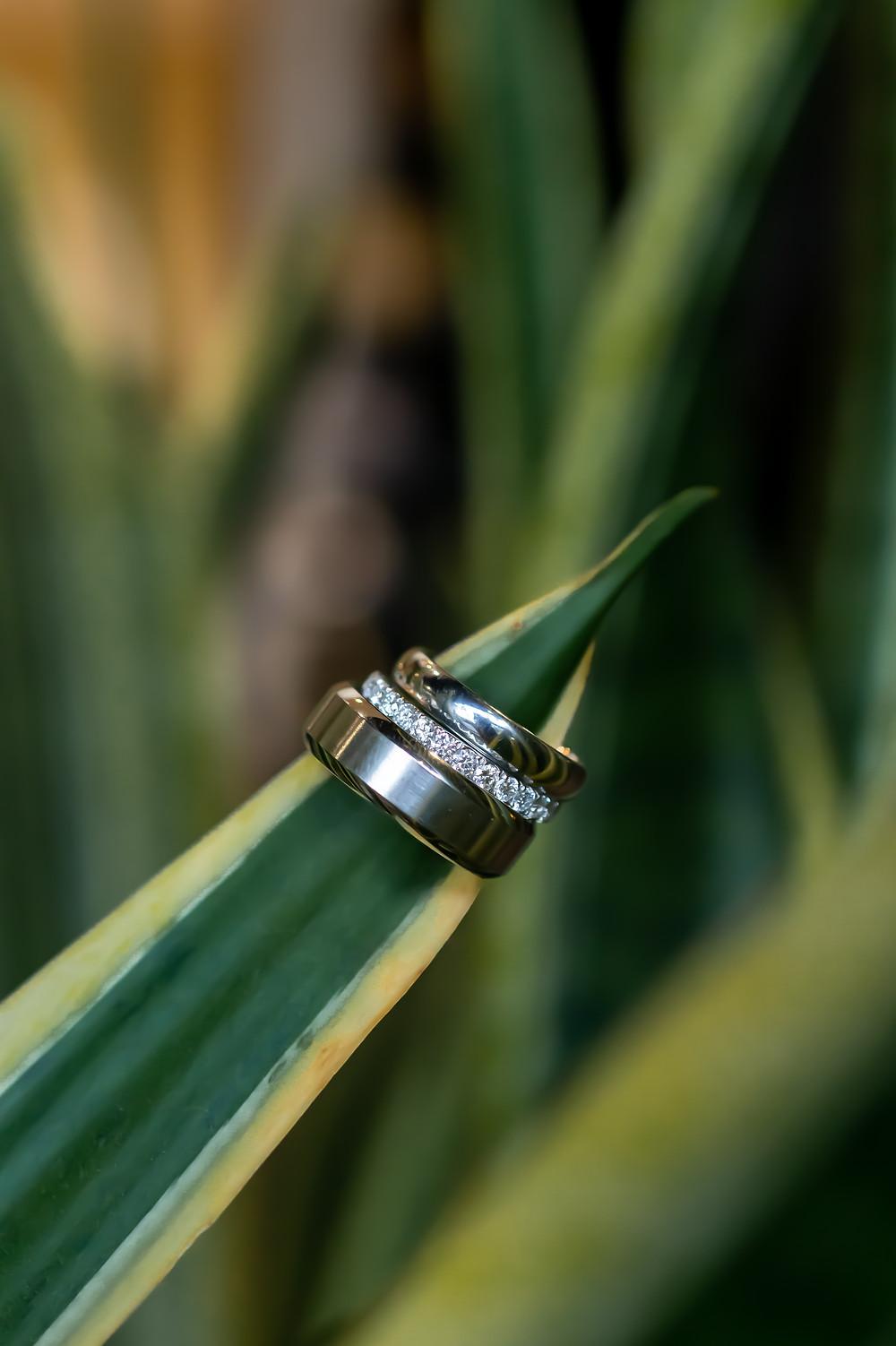 Wedding ring shot on Hilton Head Island in South Carolina.