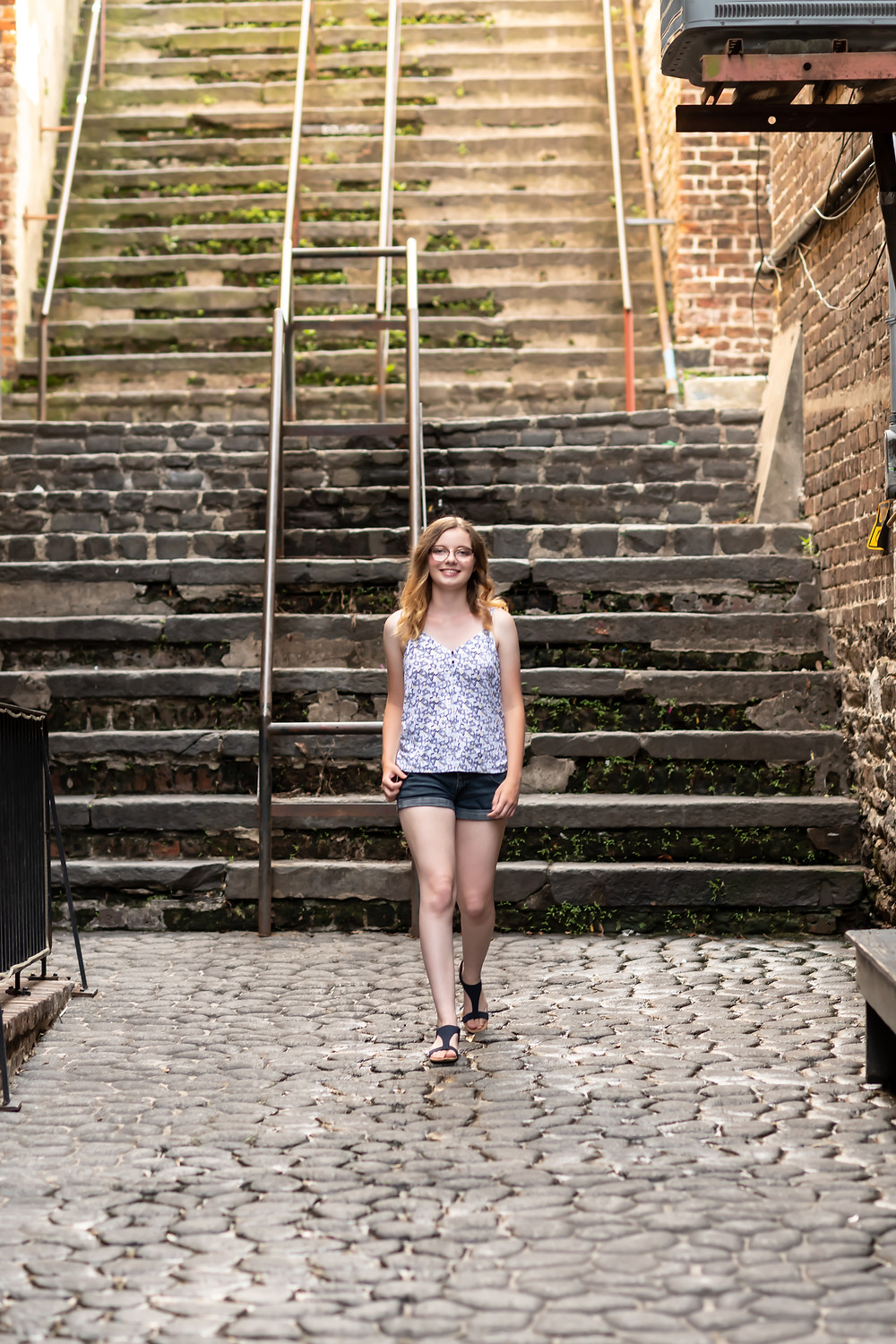 Aspen's senior portrait session in downtown Savannah, Georgia.