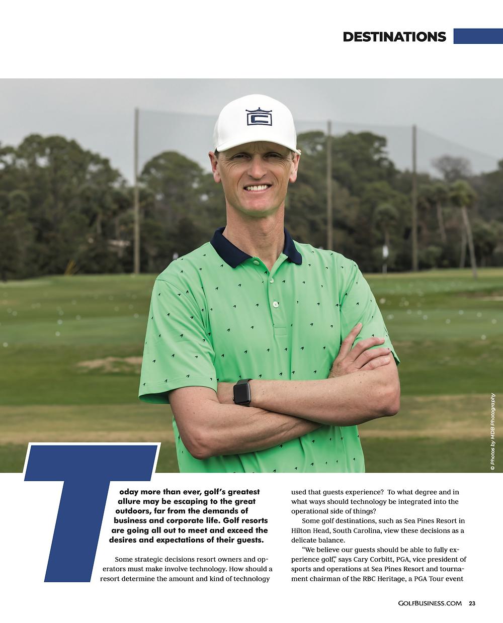 Savannah Photographer, Published in Golf Business Magazine, Tim Cooke Sea Pines Hilton Head Island