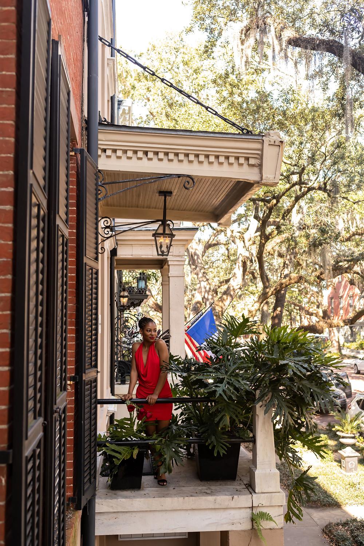 Ilana's The Bachelorette inspired photo shoot in downtown Savannah, Georgia.