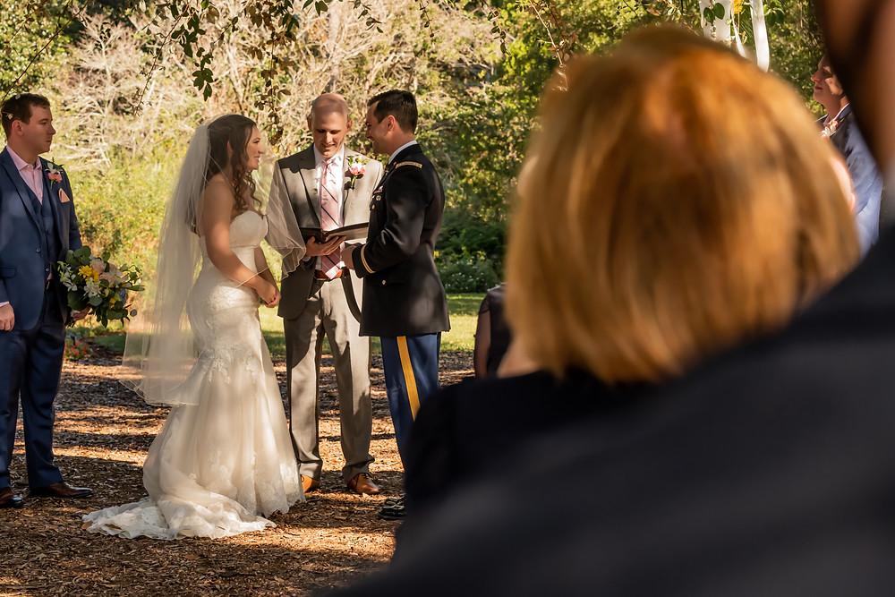 Kiana and Tice's wedding at Botanic Garden at Georgia Southern University in Statesboro, Georgia.