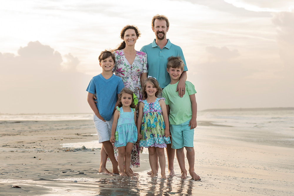 Family portrait photography on Tybee Island in Savannah, Georgia.