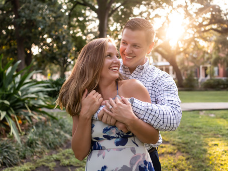 Kirby & Matt's Engagement Session - Savannah, Georgia