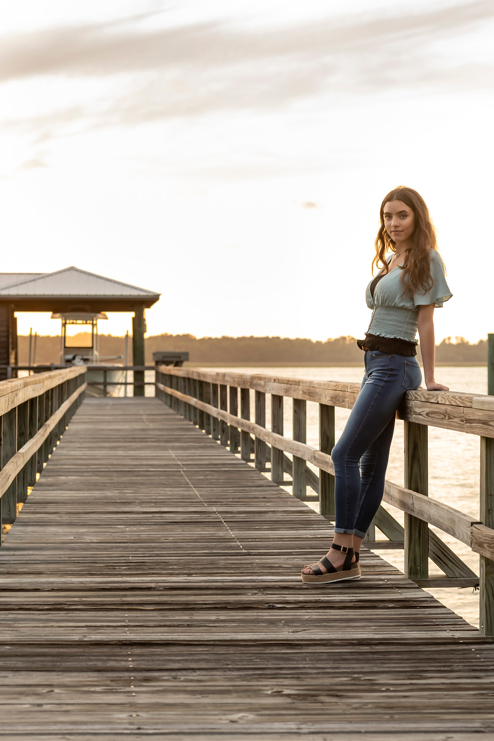 Alex's senior portrait session for Savannah's Islands High School