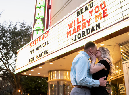 Jordan & Beau Proposal - Savannah Theatre