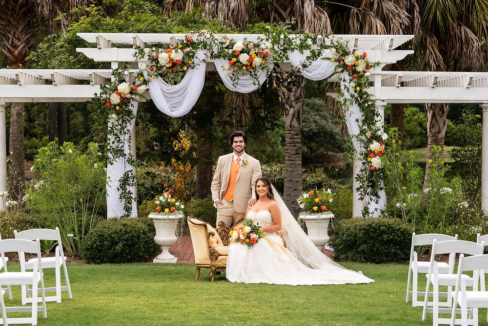 Styled wedding shoot at Coastal Georgia Botanical Gardens in Savannah, Georgia.