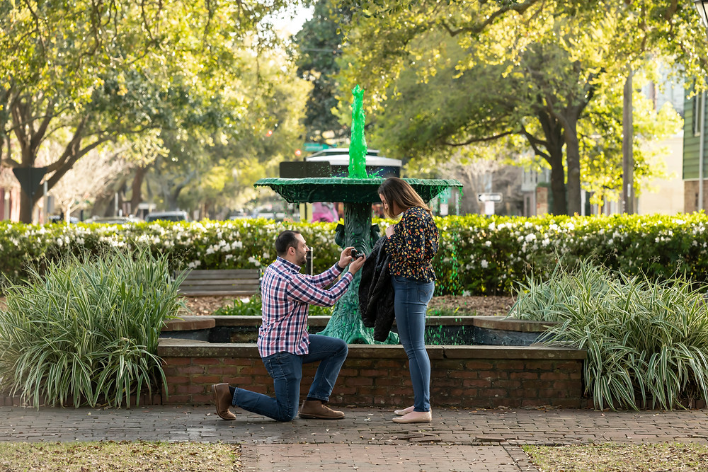 Savannah, Georgia Proposal in Columbia Square