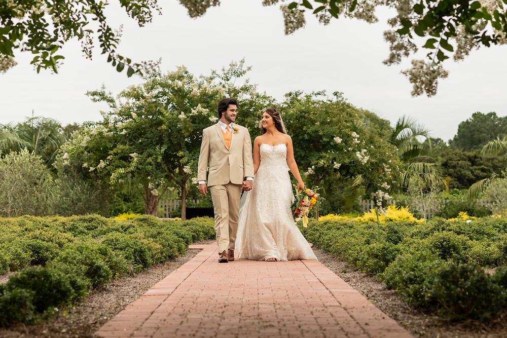 Styled wedding shoot at Coastal Georgia Botanical Gardens in Savannah, Georgia.